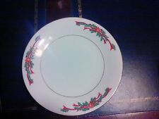 "1 - Poinsettia & Ribbons Fine China 7 1/2"" Salad / Dessert Plate"