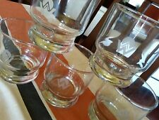 5 Vintage AMERICA WEST AIRLINES BAR GLASSES FIRST CLASS GLASS LOW BALL DRINK