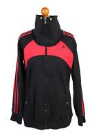 Vintage Adidas Tracksuits Top Three Stripes Sportswear WOMEN UK L Multi - SW2091