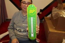 New ListingBp Gasoline Motor Oil Gas Station Porcelain Metal Thermometer Sign Works
