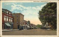 Granville NY Main St. c1920 Postcard