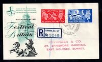 GB 1951 Festival of Britain First Day of Festival Cover Special Postmark WS19712