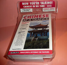 Chinese in No Time 2E Phrase Book / Dictionary + Cassette + Script NEW