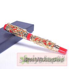new JINHAO Noblest Golden Dragon & Phoenix Red roller ball pen