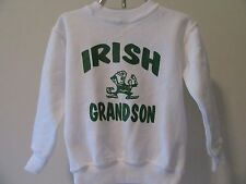 Boys 4T Irish Grandson Sweatshirt Notre Dame Kids Leprechaun Shirt Outerwear Top