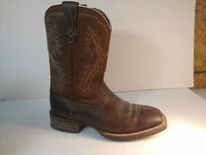 Ariat® Men/'s Quickdraw Matte Brown Smooth Quill Ostrich Boots 10025172