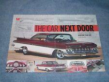 "1959 Chevy Impala Hard Top Article ""The Car Next Door"""