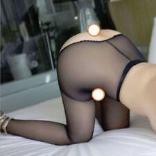 Crotchless Sheer Stockings Pantyhose Tights Suspender Garter Lingerie UK: 6-14