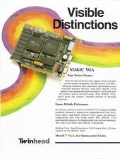 Vintage 1988 Twinhead Magic VGA & Magic VGA-16 Card Flyer/ Brochures (x2)
