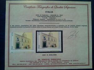 ITALIA 2006 VARIETA' LICEO AGOSTINO NIFO RARISSIMA CERTIFICATO TERRACHINI