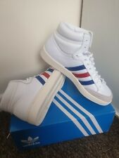 Adidas Original Americana High Tops Trainers Mens White Blue Red Uk Size 10.5