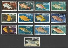 PITCAIRN ISLANDS # 231-243 MNH PACIFIC ISLAND FISH,  SEA LIFE