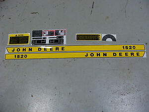NEW 1520 JOHN DEERE TRACTOR HIGH QUALITY VINYL DECAL SET 1520 JOHN DEERE