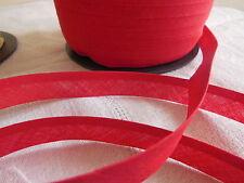 biais vintage ruban bordure rouge 5 mètres sur 1,5  cm
