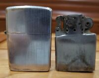 Vintage Old 1946 ZIPPO Cigarette Lighter 3 Barrel Hinge 2032695 ZIPPO REBUILD