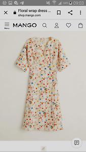50% OFF mango wrap dress size uk8 RRP £49.99