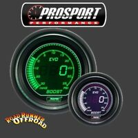 Prosport EVO Digital Boost Gauge White Green 52mm Waterproof sensor