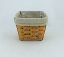 Longaberger Diskette Basket Combo Finder's Keepers Oatmeal Divided Protector