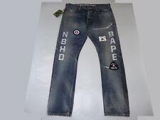 12696 bape x NBHD savage pants denim dp narrow indigo M