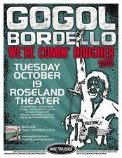 GOGOL BORDELLO 2010 Gig POSTER Portland Oregon Concert