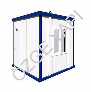Bürocontainer Baucontainer Wohncontainer Container Schlüsselfertig 2,40m x 2,40m