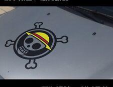 One piece Luffy straw hat Car Sticker Hood Vinyl Decal hot Anime Cartoon 40cm