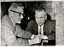1960 Ap Wire Photo Los Angeles Hung Jury Murder Trial Bernard Finch Grant Cooper