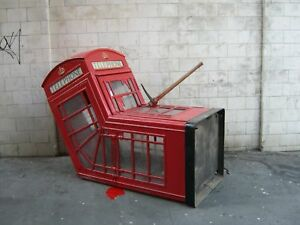 Banksy Red Phone Box AxeCANVAS WALL ART DECO LARGE READY TO HANG all sizes