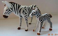 LE ZEBRE + SON PETIT  PLAYMOBIL ANIMAUX ANIMAL  ZOO SAVANE