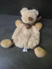 doudou ours ourson beige marron baby nat' état neuf