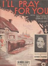 I'll Pray For You by Roy King and Stanley Hill - Sheet music