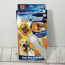 Pedi Paws The Incredible Pet Nail Trimmer For Cats And Dogs New In Open Box