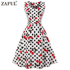 Zaful Vintage Style Women Dress 50s Swing Party Pinup Flared Evening Dress