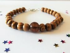 Classy Men's Wood Bead Bracelet