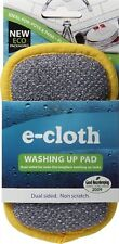 E CLOTH WASHING UP PAD/SCOURER DUAL SIDED. NON SCRATCH REMOVES OVER 99% BACTERIA
