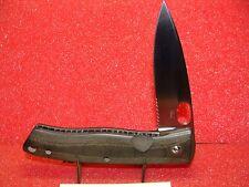 MEL PARDUE CUSTOM KNIFE MAKER--LARGE SINGLE BLADE--LINER LOCK--MICARTA