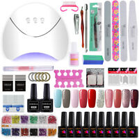 Complete Gel Nail Polish Kit UV LED Nail Dryer Starter Kit Set  Manicure Tools