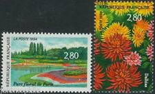 Y&T n° 2909 + 2910 Salon du timbre 1994 Fleurs  NEUF **