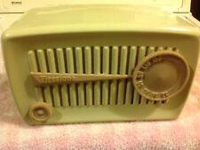 vintage firestone radio model 4A-124 , metal case , midget , cream color