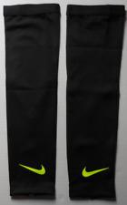 Nike Adult Unisex Dri-Fit Reveal Arm Sleeves Color Black/Volt/Volt Size L/Xl