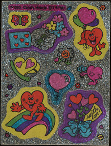 Candy Hearts Rainbo Glitter Trend Scratch Sniff Sticker Sheet T-1285 1984myonly1