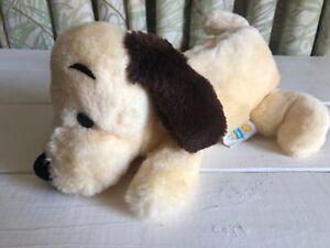 Vintage 1973 R Dakin & Co Drooper Dog Cream Black Ears Plush Stuffed Puppy