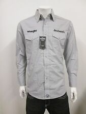 NWT Wrangler Jack Daniel's Logo Western Embroidered Rodeo Shirt (SMALL) SNAPS