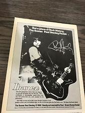 1979 8X11 PRINT Ad IBANEZ PAUL STANLEY MODEL GUITAR PIECE OF ROCK HISTORY KISS