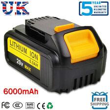6000mAh for DeWalt 18v XR 6ah Battery DCB184 Li-Ion Slide Battery with indicator