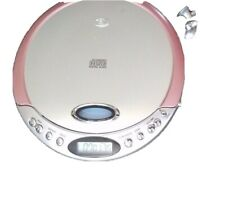 Disc Portable CD Player with LCD Display - pink and silver