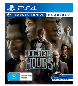 The Invisible Hours Game Playstation 4 PSVR Australian PAL Version Like New