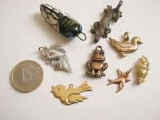 lot bijoux vintage pendentifs animaux cigale hibou lot animals pendants cicada