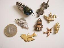 lot bijoux vintage pendentifs animaux ciagle hibou lot vintage animals pendants