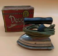 Vintage Dover Boudoir Iron Cast Iron Made In Dover Ohio w Original Box and Stand